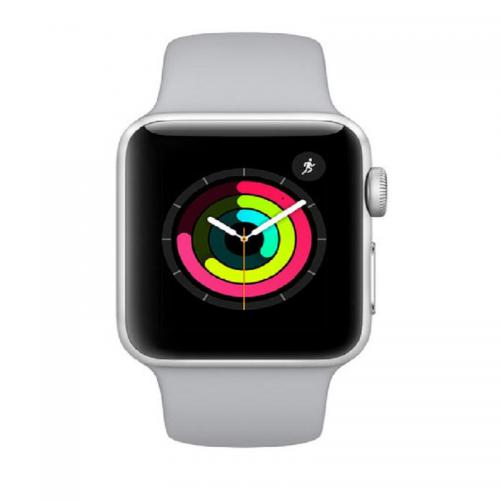 Apple Watch Serie 3 38mm GPS Alu. Argent Bracelet Sport Nuage
