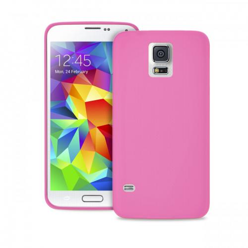 Puro Coque TPU Silicone Galaxy S5 Mini Rose